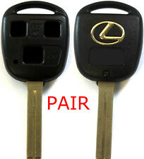 2 (Pair) New Remote Key Keyless Replacement Case 3 Button Short Blade For Lexus