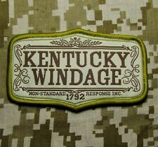 KENTUCKY WINDAGE ARMY MORALE USA BADGE DESERT VELCRO® BRAND FASTENER PATCH