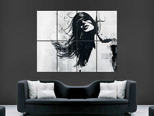 WOMEN GRAFFITI BANSKY STYLE  GIANT  ART IMAGE  LARGE WALL POSTER PICTURE