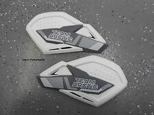 Arctic Cat White & Grey Team Arctic Sno Pro Hand Guards Wind Guards 6639-382