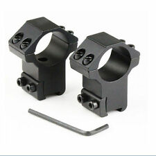 """2x Scope Rings 1"""" For 22 cal /Rifle High Profile 3/8 Inch Dovetail Mount Set N28"""