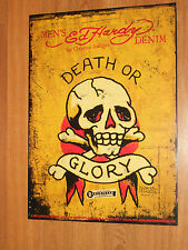 Ed Hardy Death Or Glory Poster Art Skull Poster New