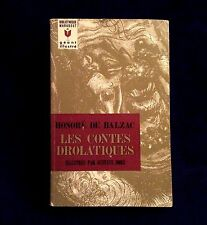 Les Contes Drolatiques Honore de Balzac IN FRENCH Paperback Novel RARE