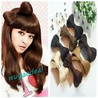 7 Colors Stylish Bow Bowknot Comb Clip Hairpiece Synthetic Lady Gaga Extension