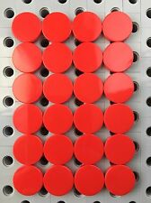 Lego Tile Round 2x2 Red Flat Tiles Smooth Finishing Floor Stones New 24 Pcs