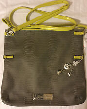 Disney Gray Tinkerbell Bag Kingdom Couture Collection Crossbody Faux Leather