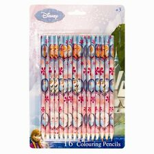 Disney Frozen 16x Pack of Princess Elsa Anna and Olaf Kids Colouring Pencils