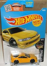 2016 Hot Wheels #89-250 Night Burnerz Yellow Custom '01 Acura Integra GSR #9-10