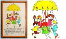 Vintage PATI Painting Signed Art Soovia Janis HOW TO PRESERVE CHILDREN Folk Pop