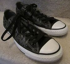 Converse Unisex Black Print Chuck Taylor All Star Ox Sneakers Men 8.5 Women 10.5