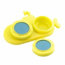 Kikkerland Yellow Submarine Contact Lens Case Contact Lense Storage NEW