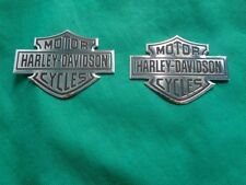 harley davidson tank emblem NEW 2pcs CHROME BLACK dyna softail sportster touring