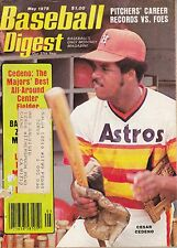MAY 1978 BASEBALL DIGEST HOUSTON ASTROS CESAR CEDENO ON COVER