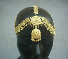 South Indian Dulhan Forehead Manng Tikka Jewelry Gold Plated Mattha Patti Ethnic