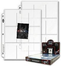 (25) BCW 9 Pocket Pages Coupon Card Holder Baseball Football Hockey Basketball