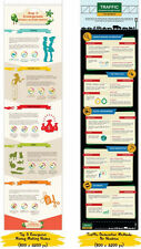 10 Customizable Info Graphics Collection In The Internet Marketing Niche on CD