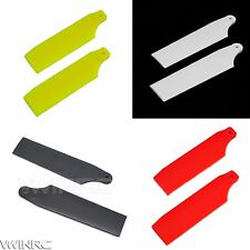 4 pair color 62mm Plastic Tail Blade for TREX KDS 450 PRO SPORT V2 rc helicopter