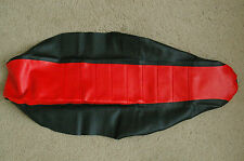 FLU Pleated black/red Gripper Seat Cover Team Honda CRF450 CRF450R 2005-2008