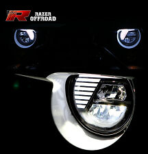 07-16 Jeep JK Wrangler 4x4 Black LED Headlight DRL+High Beam+Low Beam+Cree LEDs