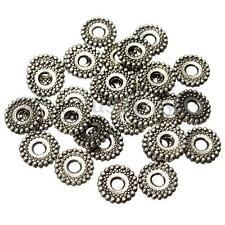 100Pcs 8mm Charms Tibetan Silver Bracelet Crafts Finding Jewelery Spacer Beads