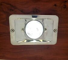MARINE BOAT LED STERN LIGHT RECTANGULAR STAINLESS STEEL SPLASHPROOF FLUSH MOUNT