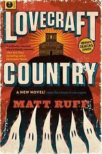 SIGNED with sketch, date, US 1st print LOVECRAFT COUNTRY,  Matt Ruff.  New