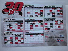 New Jersey Devils 2011-2012 Magnetic Schedule 30th Anniversary Stanley Cup NHL
