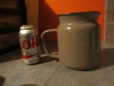 Vintage ENAMELWARE  Pitcher POT JUG  Grayish Brown COLOR