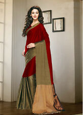 Stylish Women Cotton Silk beautiful party wear printed saree Unistitch Bloues