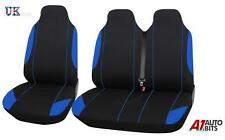 RENAULT TRAFIC 2+1 BLUE SINGLE + DOUBLE COMFORT SOFT FABRIC SEAT COVERS