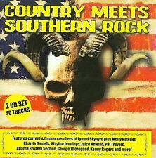Country Meets Southern Rock by Various Artists (CD, 2009, 2 Discs, Dead Line...