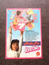 I372-Advertising Pubblicità-1987- MATTEL , BARBIE , MODA PIU'