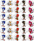 30 x Sonic the Hedgehog Edible Rice Wafer Paper Cupcake Toppers