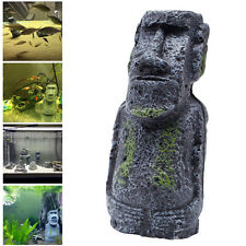 Easter Island Statue Accessory Pipe Fish Tank Aquarium Decoration Ornament New