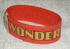 RUBBER WRISTBANDS *** WONDER WOMAN *** NEW - 25 cm - COLOUR MAINLY ORANGE/YELLOW