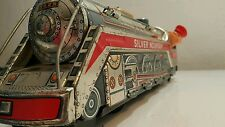 VINTAGE TIN TOY TRAIN SILVER MOUNTAIN 3525 BATTERY OPERATED MODEL JAPAN