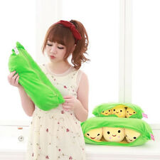 Pea Pillow Smiling Peas Plush Toy Doll 3 Peas In a Pod Pea Toys for Baby Kids