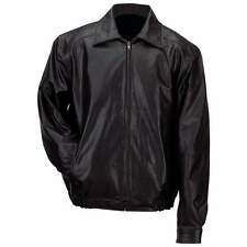 Jacket Gianni Collani Men's Solid Genuine Leather BLACK Bomber-Style SZ 3X-LARGE