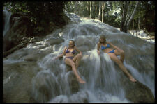 469093 Girls On Dunns River Falls Jamaica A4 Photo Print