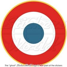 """FRANCE Armee de l'Air, French AirForce Aircraft Roundel 100mm(4"""") Sticker, Decal"""