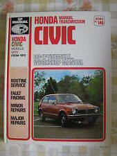 HONDA CIVIC 1200 (1973-77) - NEW OLD STOCK BOOK / SP MANUAL