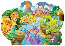 Jigsaw 2 sided child's educational floor puzzle Dinosaurs 46 pieces NEW