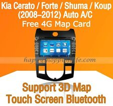 "8"" Car Dash DVD GPS Navigation Radio Stereo BT for Kia Forte Cerato Shuma Koup"