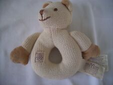 MI Yim Simply Organic BEAR BABY RATTLE JPetes industries