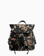 STRADIVARIUS ZARA GROUP EMBROIDERED ORIENTAL DRAGON CHINESE PRINT BACKPACK 2017
