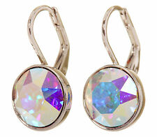 Swarovski Elements Crystal Aurore Bella Mini Pierced Earrings Rhodium 7173a