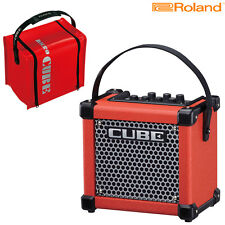 Roland Micro Cube Battery Powered Guitar Amplifier Red w/ Protective Cover Bag