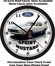 1972 FORD MUSTANG SPRINT WALL CLOCK-FREE USA SHIP!