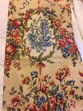 ❤️Waverly Saison-Creme De Printempts Tiers 28+28 X 47 Red Rooster Floral Toile