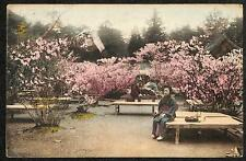 JAPAN GARDEN HONG KONG CHINA TO PORTSMOUTH ENGLAND STAMP POSTCARD 1913